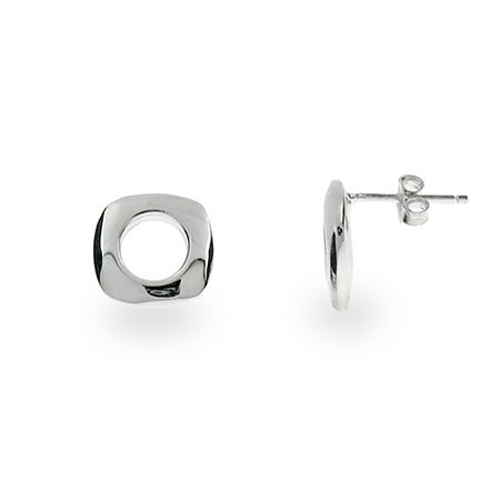 Designer Style Open Square Stud Earrings | Eve's Addiction®