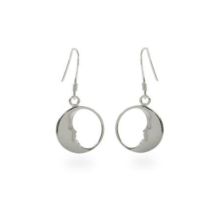 Designer Style Man in the Moon Earrings | Eve's Addiction®