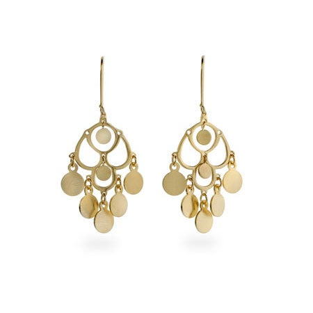 Gold Dangle Chandelier Earrings | Eve's Addiction®