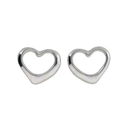 Sterling Silver Heart Stud Earrings | Eve's Addiction®
