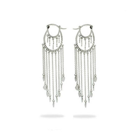 Waterfall of Hearts Sterling Silver Chandelier Earrings | Eve's Addiction®