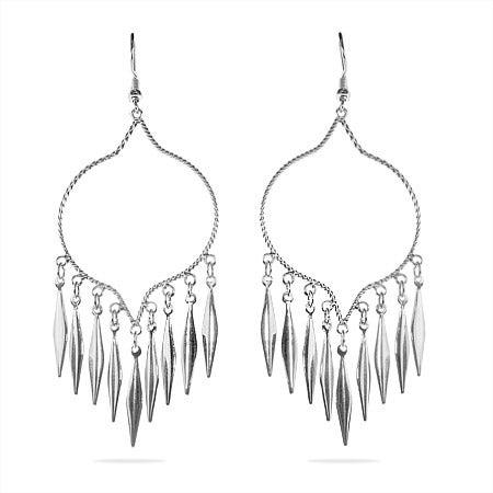 Western Style Sterling Silver Chandelier Earrings | Eve's Addiction®