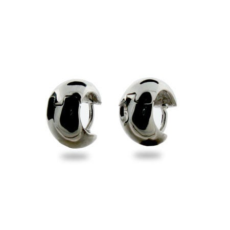 Simple Wide Sterling Silver Mens Earrings | Eve's Addiction®