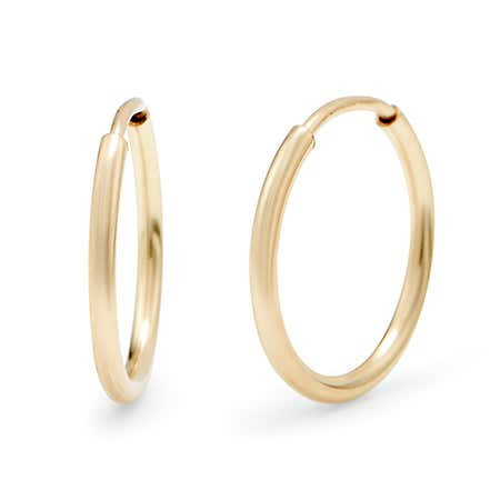 14K Gold Filled .5 Inch Hoop Earrings