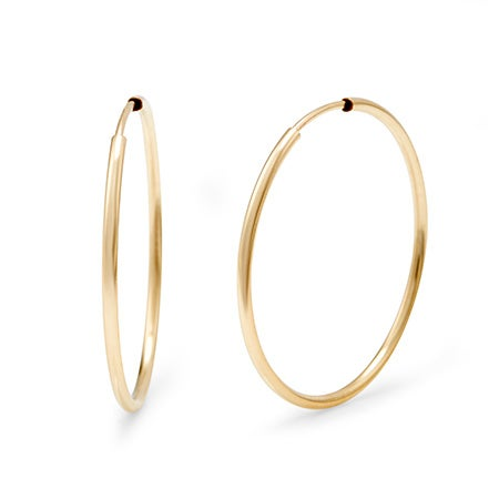 14K Gold Filled 1 Inch Hoop Earrings   Eve's Addiction®