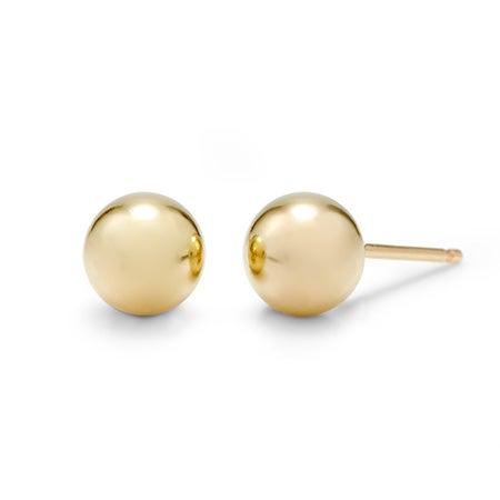 Designer Style 6mm 14K Gold Fill Bead Earrings | Eve's Addiction®