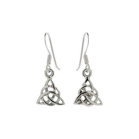Sterling Silver Celtic Trinity Earrings