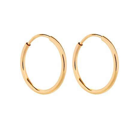 Mens 14K Gold Filled Half Inch Hoop Earrings