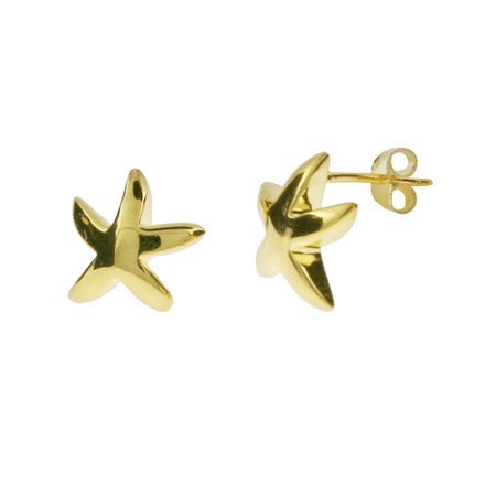 Designer Style Gold Vermeil Starfish Earrings | Eve's Addiction®