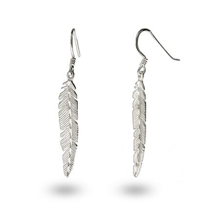 .925 Sterling Silver Feather Earrings | Eve's Addiction®