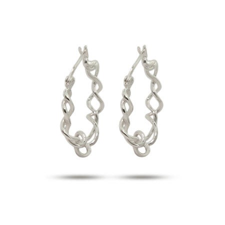 Sterling Silver Intertwined Hoop Earrings | Eve's Addiction®