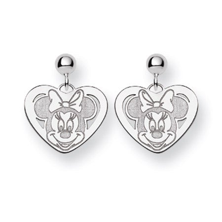 Minnie Mouse Heart Earrings | Official Licensed Disney Jewelry