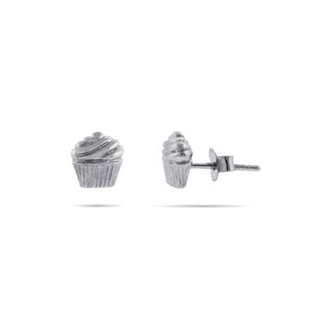 Sterling Silver Cupcake Earrings | Eve's Addiction®