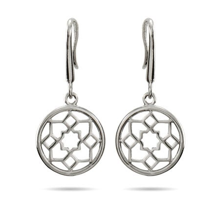 Designer Style Flower Medallion Earrings | Eve's Addiction®