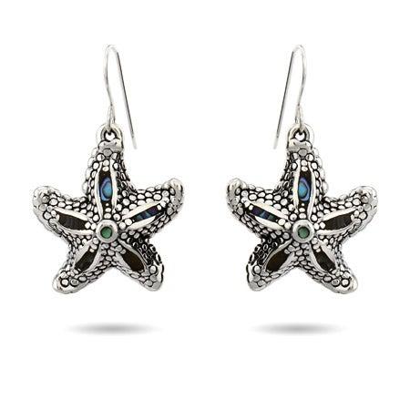 Abalone Shell Dangle Starfish Earrings | Eve's Addiction®