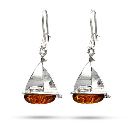 Baltic Amber Sailboat Earrings | Eve's Addiction®