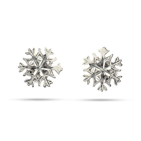 Sterling Silver Petite Snowflake Stud Earrings | Eve's Addiction®