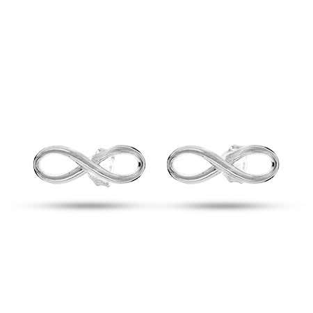 Designer Style Infinity Symbol Stud Earrings