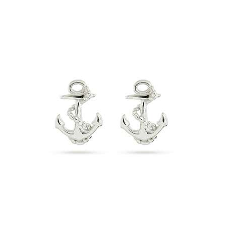 Sterling Silver Anchor Stud Earrings | Eve's Addiction®