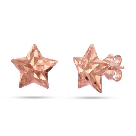 Rose Gold Vermeil Starfish Stud Earrings | Eve's Addiction®