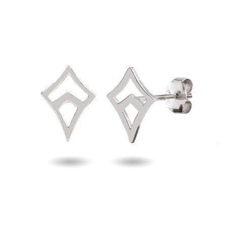Kappa Alpha Theta Sterling Silver Kite Earrings