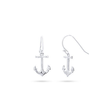 Sterling Silver Anchor Earrings | Eve's Addiction®