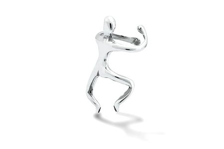 Little Man Sterling Silver Ear Cuff | Eve's Addiction®