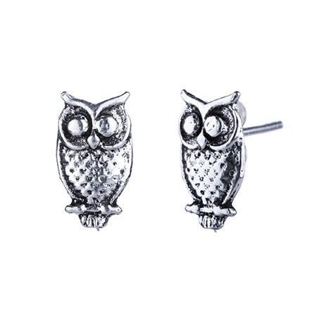 Owl Stud Earrings in Sterling Silver   Eve's Addiction®