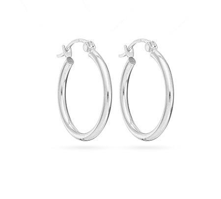 "1"" Tube Style Hoop Earrings in Stainless Steel | Eve's Addiction®"
