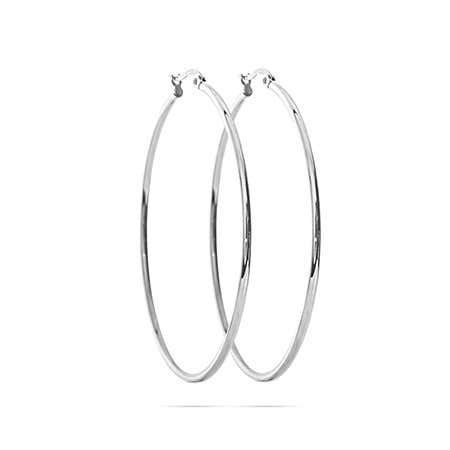 "Stainless Steel 2"" Tube Style Hoop Earrings"