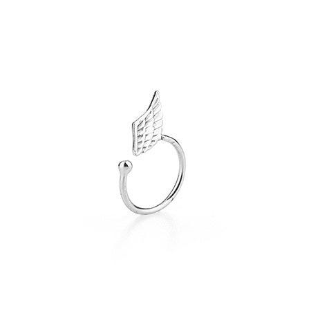 Angel Wing Ear Cuff in Sterling Silver