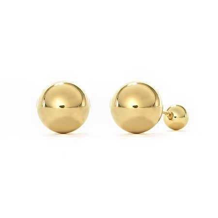 Gold Plated Stainless Steel 360 Studs