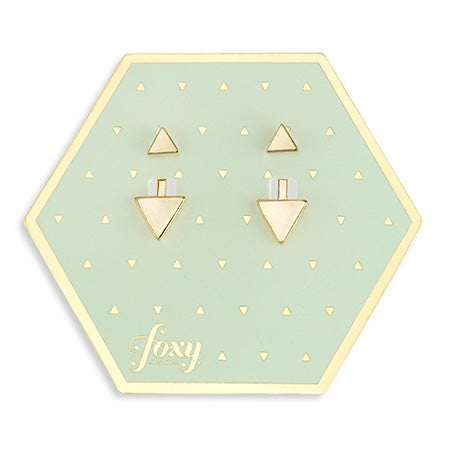 Foxy Gold Minx Earring Jacket