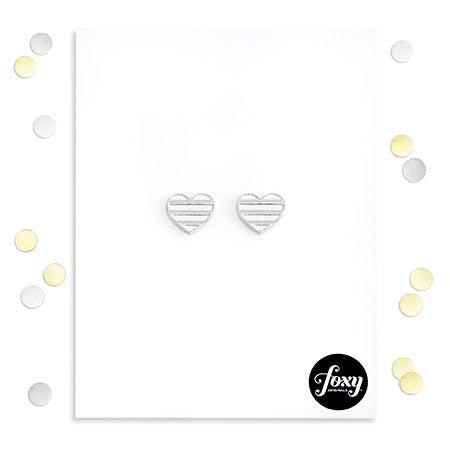 Foxy Emma Earrings in Silver
