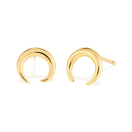 gorjana Cayne Crescent Stud Earrings   Eves Addiction