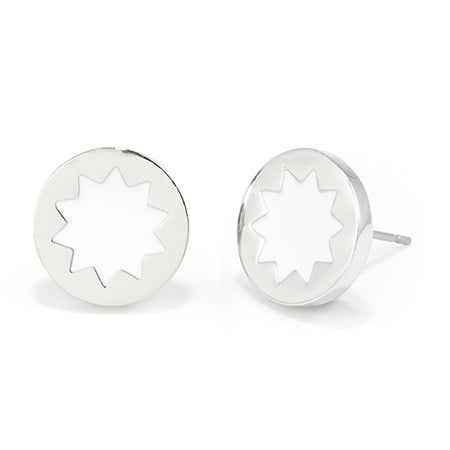 House of Harlow White Sunburst Stud Earrings | Eves Addiction
