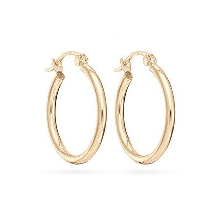 "14K Gold 3/4"" Hoop Earrings | Eve's Addiction"