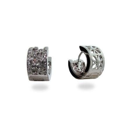 Designer Style Bubbles Huggy Earrings | Eve's Addiction