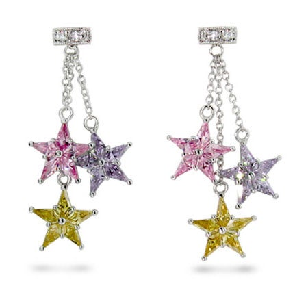 Designer Style Pastel CZ Stardust Earrings | Eve's Addiction®