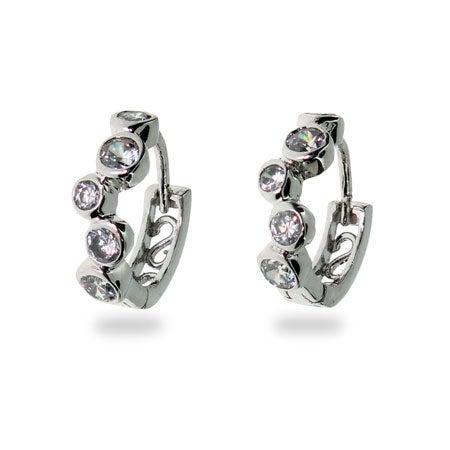 Designer Style Bubbles Huggie Hoop Earrings