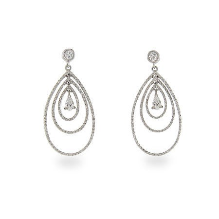 Triple CZ Peardrop Earrings | Eve's Addiction