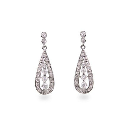 Designer Style CZ Teardrop Earrings | Eve's Addiction®