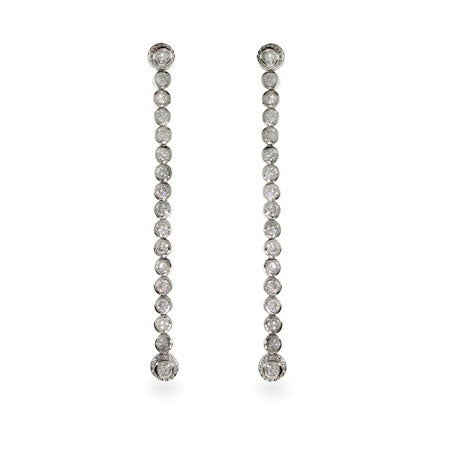 Celebrity Inspired CZ Bubbles Drop Earrings | Eve's Addiction®