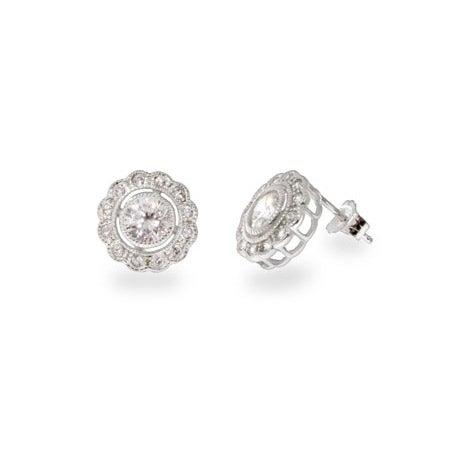 Designer Style Single Circlet CZ Stud Earrings | Eve's Addiction®