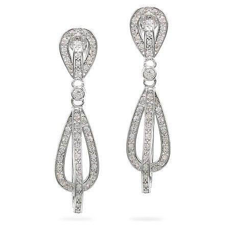 Teardrop Sterling Silver Glam Earrings | Eve's Addiction®