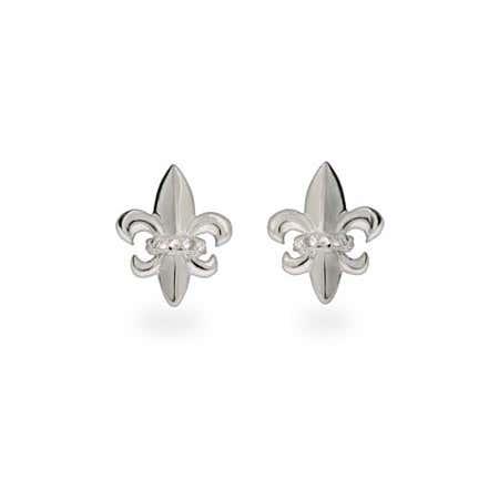 Sterling Silver Fleur de Lis Earrings | Eve's Addiction®