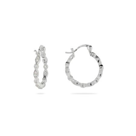 Designer Style Sway Hoop Earrings | Eve's Addiction®