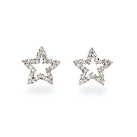 Designer Style Cubic Zirconia Star Stud Earrings | Eve's Addiction®
