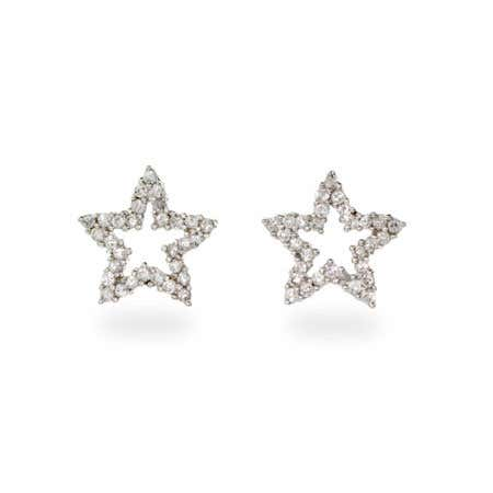 Designer Style Cubic Zirconia Star Stud Earrings | Eve's Addiction®