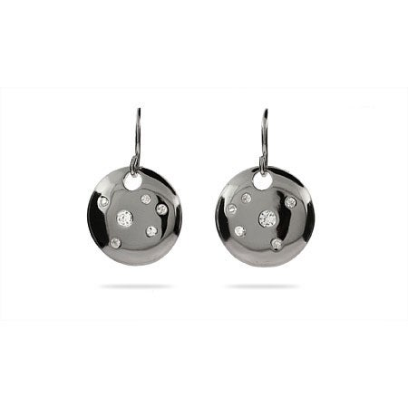 Designer Style CZ Sparkling Circle Earrings | Eve's Addiction